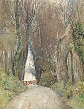 TOM ROBERTS 1856-1931 Earliest Spring in Cornwall 1919 oil on canvas on board