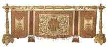 An Italian silk and velvet embroidered hanging, 19th Century (4)