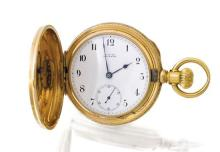 Waltham An 18ct gold huntingcased keyless lever pocketwatch mvt 2088841 case K5063 circa 1880