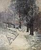 Arthur Streeton 1867-1943 (WINTER LANDSCAPE) 1899 oil on canvas