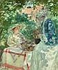 Rupert Bunny 1864-1947 DEVIDEUSESWINDING A SKEIN (1915) oil on canvas