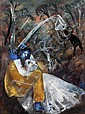 Arthur Boyd 1920-1999 LOVERS BY A CREEK (1960) oil and tempera on composition board