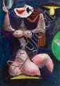 Albert Tucker 1914-1999 WOMAN 1950 oil, watercolour, gouache and pencil