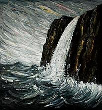 PETER BOOTH born 1940 Untitled (Waterfall) oil on canvas