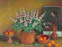 MARGARET OLLEY 1923-2011 (Still Life) oil on composition board