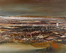 SIDNEY NOLAN 1917-1992 Salt Lakes, Wimmera 1966 oil on composition board