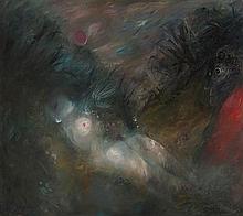 ARTHUR BOYD 1920-1999 Sleeping Nude (1962) oil and tempera on composition board