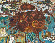 JOHN OLSEN born 1928 The Mother 1964 oil on canvas