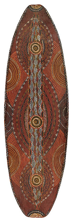 Lantjin working 1960s UNTITLED (1964) natural earth pigments on eucalyptus bark
