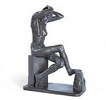 JACOB EPSTEIN 1880-1959 Nan Seated (1911) bronze