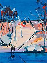 ARTHUR BOYD 1920-1999 Shoalhaven with Black Ram (1993) oil on composition board