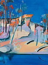 ARTHUR BOYD 1920-1999 Shoalhaven with Pulpit Rock (1993) oil on composition board