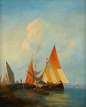 THEODOR BAIKOFF 1818-1879 (Sailing Boats) oil on canvas