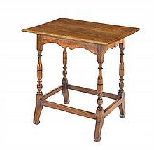 A late 17th century English oak side table, circa 1690
