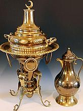TWO PIECES MIDDLE EASTERN BRASS