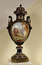 FRENCH SEVRES BRONZE MOUNTED VASE SIGNED BERTREN, 38