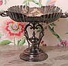 VICTORIAN SILVER PLATED CALLING CARD TRAY ON STAND