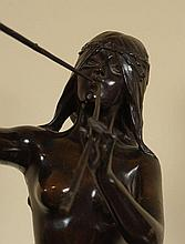 FRENCH BRONZE MODEL OF A DANCING MAIDEN SIGNED E. DROUOT