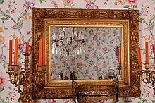 19TH CENTURY GILDED FRAME MIRROR