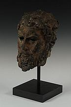BRONZE HEAD OF POSEIDON