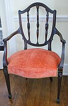 FOUR HIGH QUALITY NICELY CARVED SHERATON STYLE CHAIRS