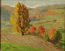 SARA SHEWELL HAYDEN (1862-1939 Nebraska) OIL ON PANEL