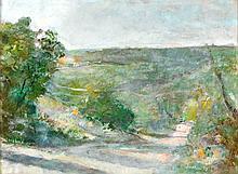 ROBERT SUDLOW (1920-2010) OIL ON PAPER