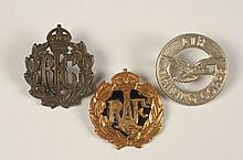 TEN AVIATION RELATED BRITISH CAP BADGES