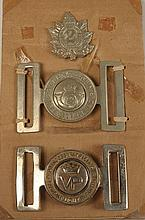 LARGE LOT OF CANADIAN MILITARY BADGES, BUCKLES, INSIGNIA
