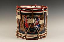 BRITISH BRIGADE OF GUARDS REGIMENTAL DRUM CA. 1990s