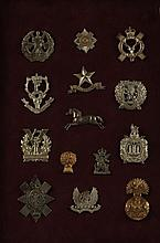FOURTEEN BRITISH CAP BADGES BLACK WATCH, FUSILIERS