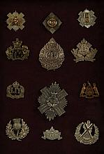 TWELVE BRITISH CAP BADGES CAPE TOWN HIGHLANDERS, MORE