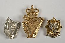 THIRTEEN IRISH AND RELATED UNIT CAP BADGES