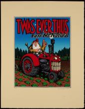 R. CRUMB (b.1943) SIGNED SERIGRAPH 'TWAS EVER THUS.'