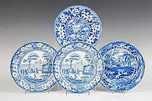 FOUR AMERICAN HISTORICAL STAFFORDSHIRE PLATES