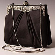 JUDITH LEIBER HAND BAG WITH AUSTRIAN CRYSTALS