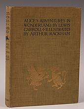 CARROLL, LEWIS, ALICE'S ADVENTURES IN WONDERLAND, ARTHUR RACKHAM