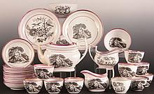 CA. 1817 PRINCESS CHARLOTTE PINK LUSTRE TEA SERVICE