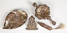 FOUR VARIOUS STERLING SILVER ITEMS