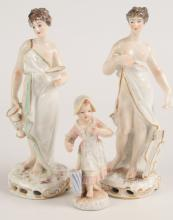 THREE 19TH CENTURY CONTINENTAL PORCELAIN FIGURES