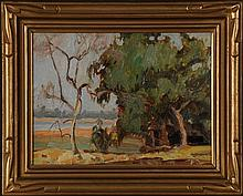 EMERSON LEWIS (Kansas & California 1892-1958) OIL ON