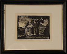 HERSCHEL LOGAN (1901-1987) WOOD BLOCK PRINTS (TWO