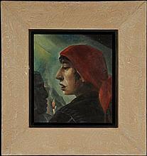 DALE WILLIAM NICHOLS(1904-1995) OIL ON PANEL