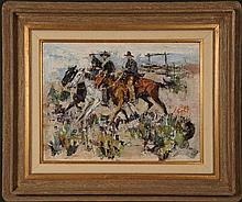 JAMES LEE COLT (1922-2005) OIL ON BOARD