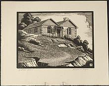 HERSCHEL LOGAN (1901-1987) PENCIL SIGNED WOODBLOCK