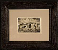 PHIL EPP (1946- ) PENCIL SIGNED ETCHING, NEW MEXICO