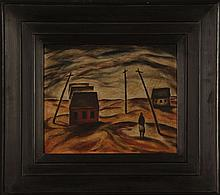 KARL METZLER (1909 - ) ATTRIBUTED OIL ON MASONITE
