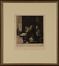 AN EARLY JOHN STOCKTON DE MARTELLY (1903-1979) ETCHING