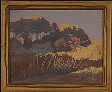 TOM MILTON WILDER(1876-1956) OIL ON PANEL (THREE