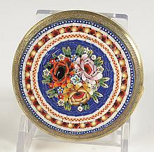 MICROMOSAIC COMPACT WITH A FLORAL DESIGN